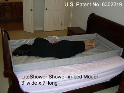 LiteShower Shower-in-bed Model